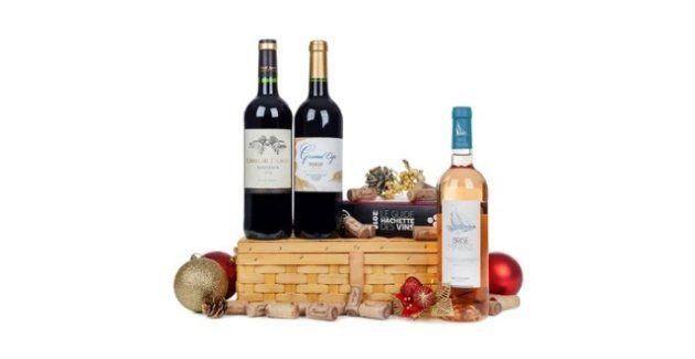 Opção traz 2 rótulos de vinho tinto e um rosé.