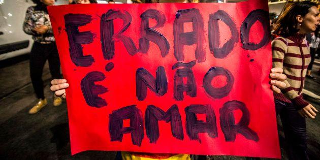 Manifestação em São Paulo a favor de direitos