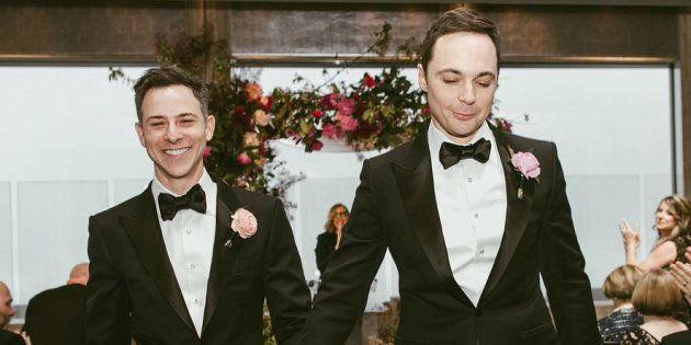 As fotos do casamento de Jim Parsons e Todd Spiewak ficaram
