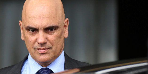 Alexandre de Moraes, atualmente Ministro da Justiça, deixa Palácio do Planalto em