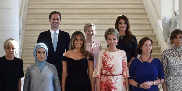 Ao lado de nomes como Melania Trump, Brigitte Macron e a rainha Mathilde, da Bélgica, Gauthier Destenay...