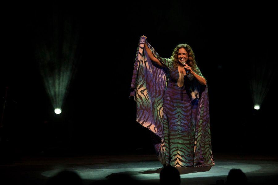 Daniela Mercury durante gravação do DVD