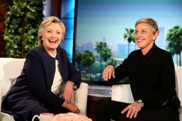 Em 2016, a então candidata à presidência dos Estados Unidos, Hillary Clinton, foi entrevistada por Ellen