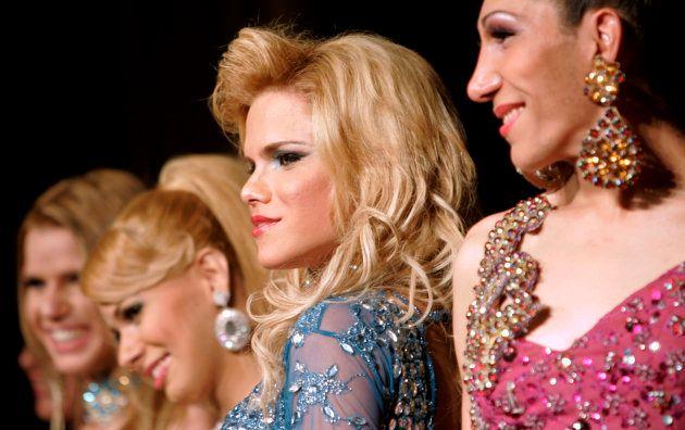 Concorrentes do Miss Brazil Transex, em