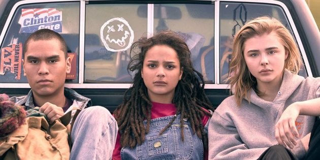 "Forrest Goodluck, Sasha Lane e Chlöe Moretz em ""The Miseducation of Cameron"