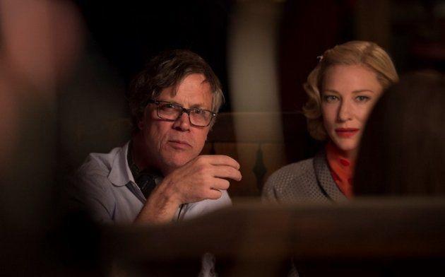 Haynes, à esquerda, dirige Cate Blanchett em