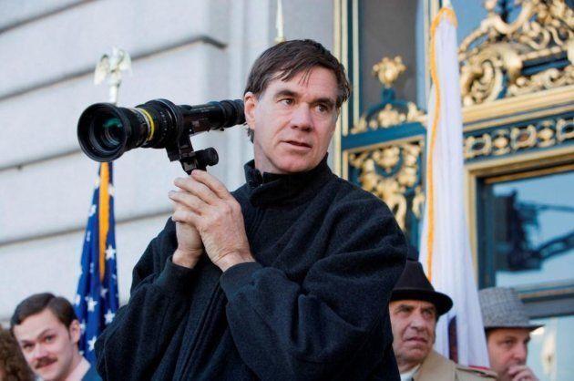 Van Sant no set de 'Milk', um de seus filmes mais