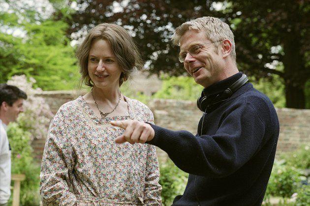 Daldry, à direita, no set de 'As Horas' com Nicole
