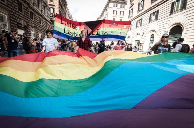 Parada LGBT em 9 de junho, em Roma, na