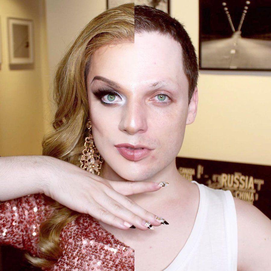Por trás da make, peruca, e look poderosos de Lorelay, está o publicitário Danilo Dabague, de 31