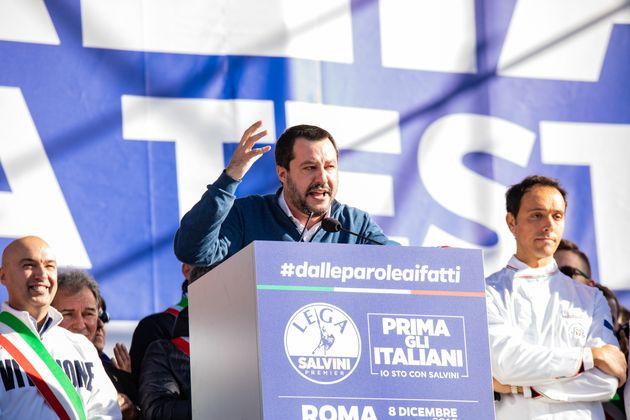 Salvini bei einem Auftritt.