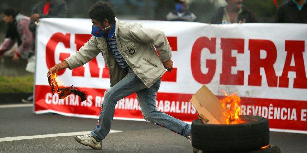 Sindicatos ajudaram a organizar a Greve Geral de 28 de
