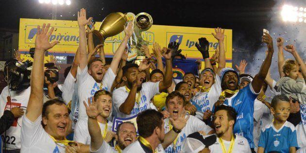 Time do interior do Rio Grande do Sul comemora vitória histórica no campeonato