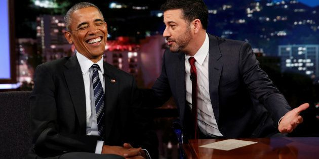 O apresentador da TV americana Jimmy Kimmel é defensor do