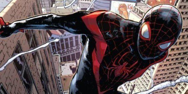 Miles Morales, negro e descendente de latinos, vai deixar de ser o Homem-Aranha em uma realidade alternativa...