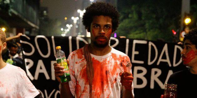 Em protesto, movimentos sociais de São Paulo questionam a condenação de Rafael Braga, preso no