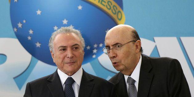 Presidente Michel Temer e ministro da Fazenda, Henrique