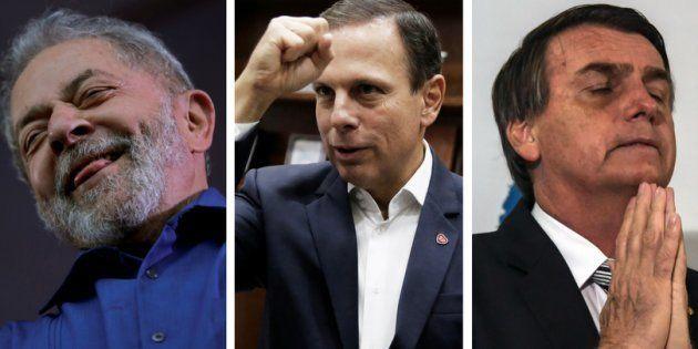 Lula, Doria e Bolsonaro são alguns dos principais pré-candidatos para o pleito de