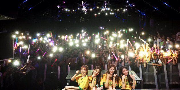 Grupo sul-coreano STELLAR se apresenta na cidade de São Paulo (fonte: instagram