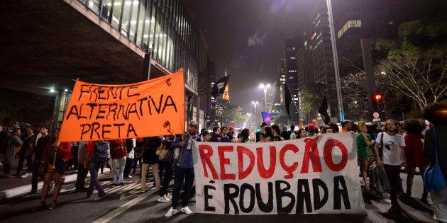 Em setembro, protesto tomou Avenida Paulista contra a redução da maioridade