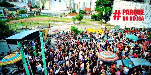 Moradores e manifestantes realizam ato pela criação do Parque do