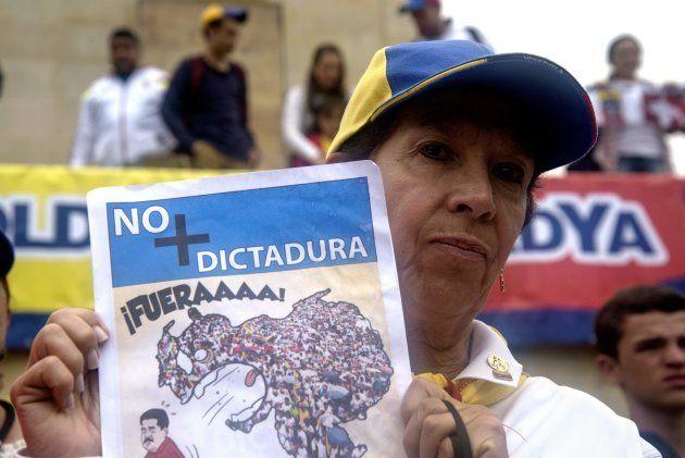 Protesto contra o presidente Maduro no último dia 8 de