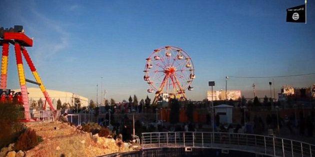 Parque Temático Dijla City, supostamente comandado pelo EI, nos arredores de Mossul,