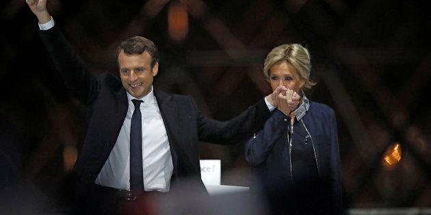 """Falando de Trogneux, Macron comentou, depois de vencer o primeiro turno eleitoral, em abril: """"Sem ela,..."""