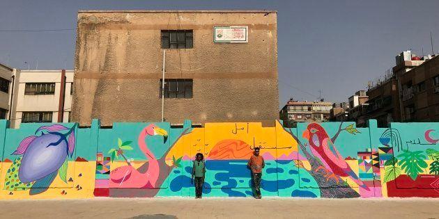 O clima de guerra na Síria deu espaço às cores do grafite