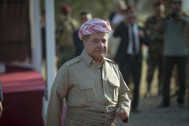 Masud Barzani, presidente do Governo Regional Curdo Iraquiano, em uma cerimônia em