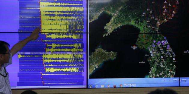 A Administração Meteorológica da Coreia do Sul, de olho no vizinho do
