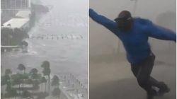 Os vídeos impressionantes da passagem do furacão Irma pela