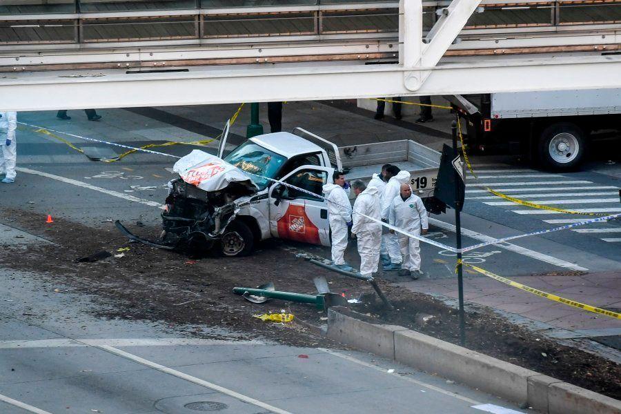 Caminhão envolvido em acidente é