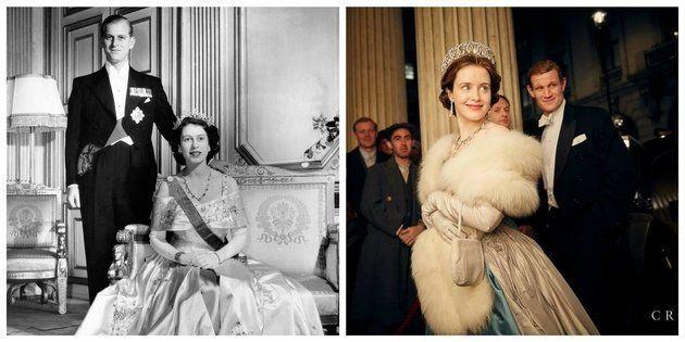 O casal real e os atores que os representam na