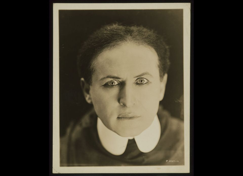 Harry Houdini, c. 1920. Gelatin silver print, 10 x 8-1/16 inches. The National Portrait Gallery, Smithsonian Institution, Was
