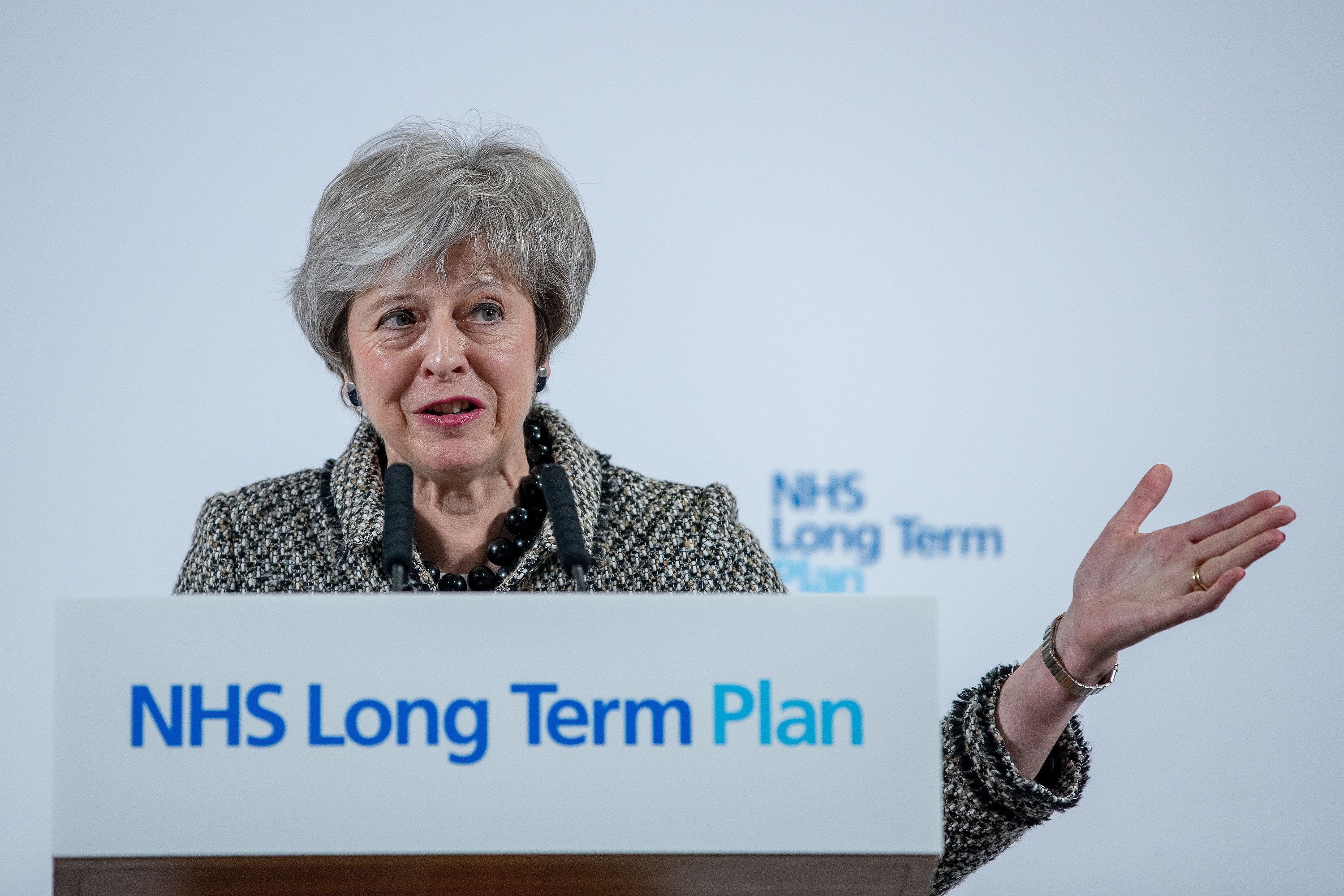 Theresa May Sparks Anger After Praising Brexit Opportunities In Hospital Staffed By EU