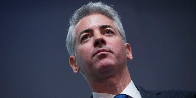William 'Bill' Ackman, founder and chief executive officer of Pershing Square Capital Management LP, pauses while speaking du