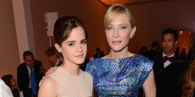 BEVERLY HILLS, CA - OCTOBER 15:  Actresses Emma Watson and Cate Blanchett attend ELLE's 19th Annual Women In Hollywood Celebr