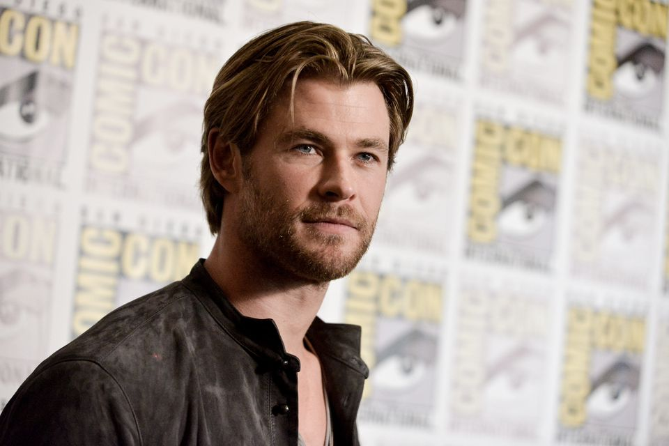 Chris Hemsworth attends the Marvel press line on Day 3 of Comic-Con International on Saturday, July 26, 2014, in San Diego. (