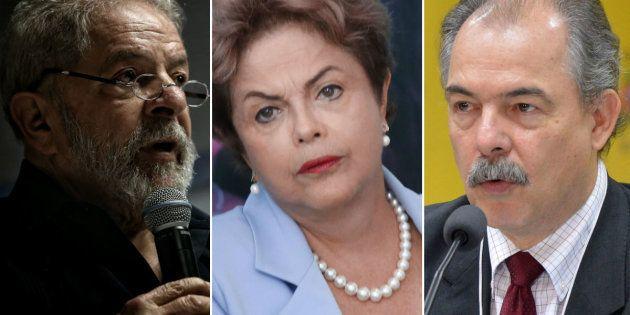 Lula, Dilma e Mercadante são acusados de obstruir as investigações da Lava