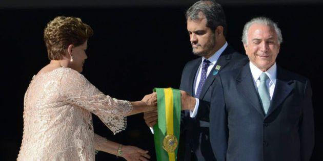 Dilma Rousseff e seu então vice, Michel Temer, tomaram posse em 1º de janeiro de