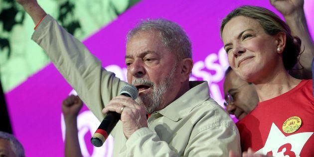 Lula celebra vitória de Gleisi Hoffmann na presidência do