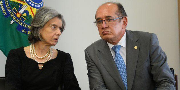 A presidente do Supremo, ministra Cármen Lúcia, e o ministro Gilmar Mendes estão entre os que votaram...