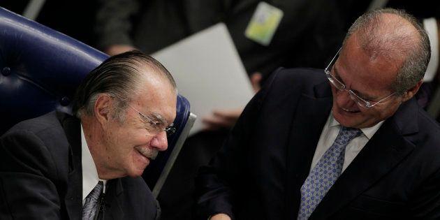 Sarney e Calheiros foram denunciados pelo procurador-geral da