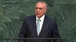 Em discurso na ONU, Temer diz que 'novo Brasil' está aberto ao
