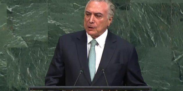 Temer iniciou seu discurso citando os principais desafios da ONU hoje, o que ele chamou