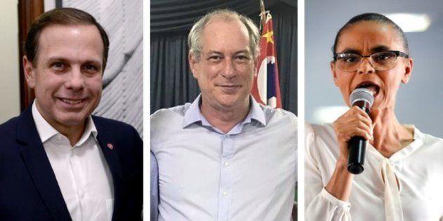 João Doria, Ciro Gomes e Marina Silva tentam se associar à figura de