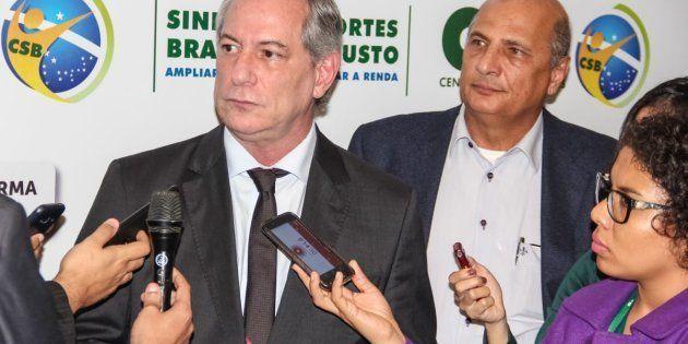 Ciro Gomes em evento do PDT, no Mato Grosso, em junho de