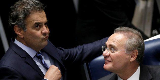 Senadores como Aécio Neves (PSDB-MG) e Renan Calheiros (PMDB-AL) têm ações penais no