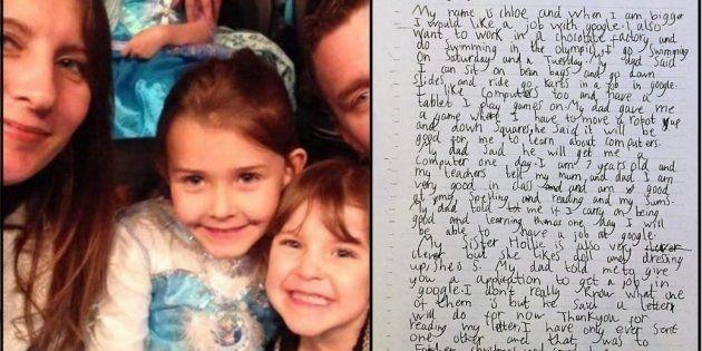 Esta garotinha de 7 anos resolveu pedir um emprego para o Google. E recebeu a melhor